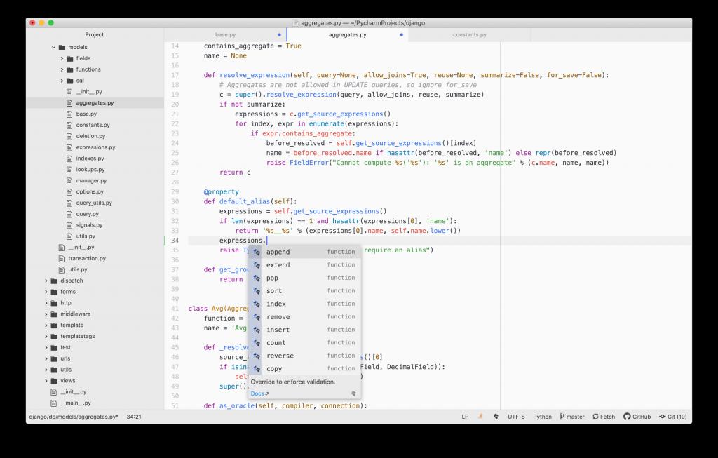 Automcompletado de Atom para Python