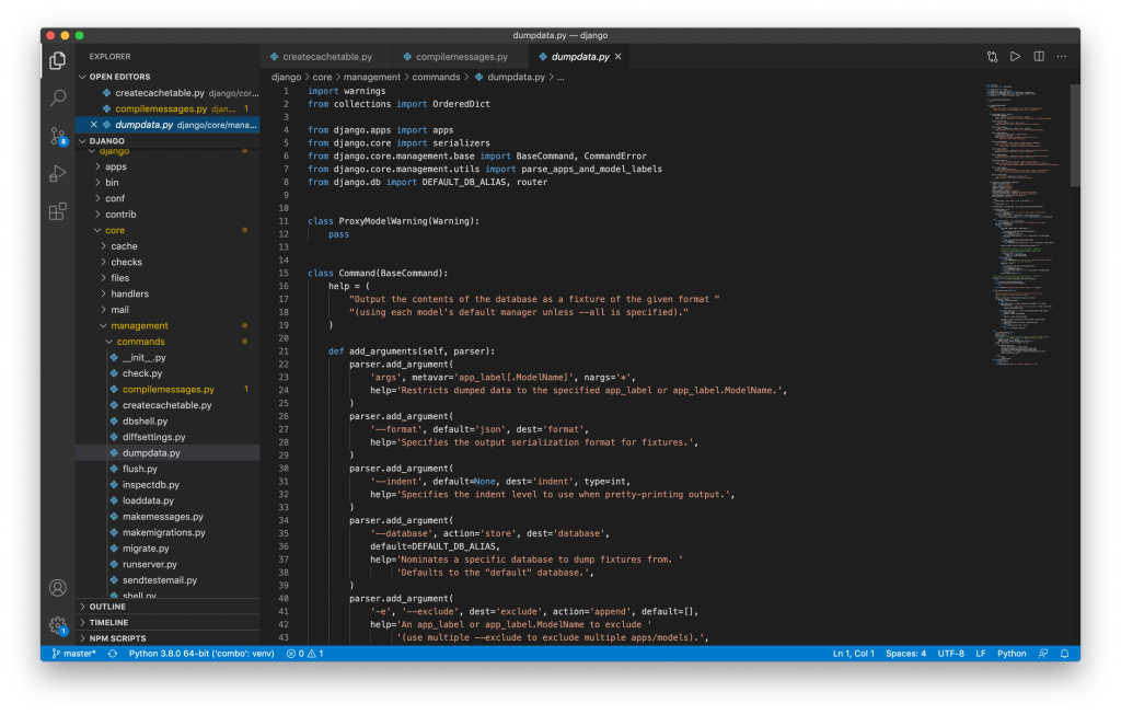 Editando codigo Visual studio code