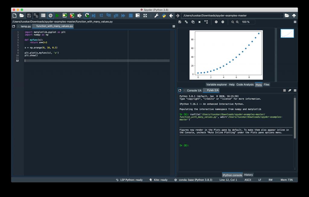 Usando spyder para editar código python