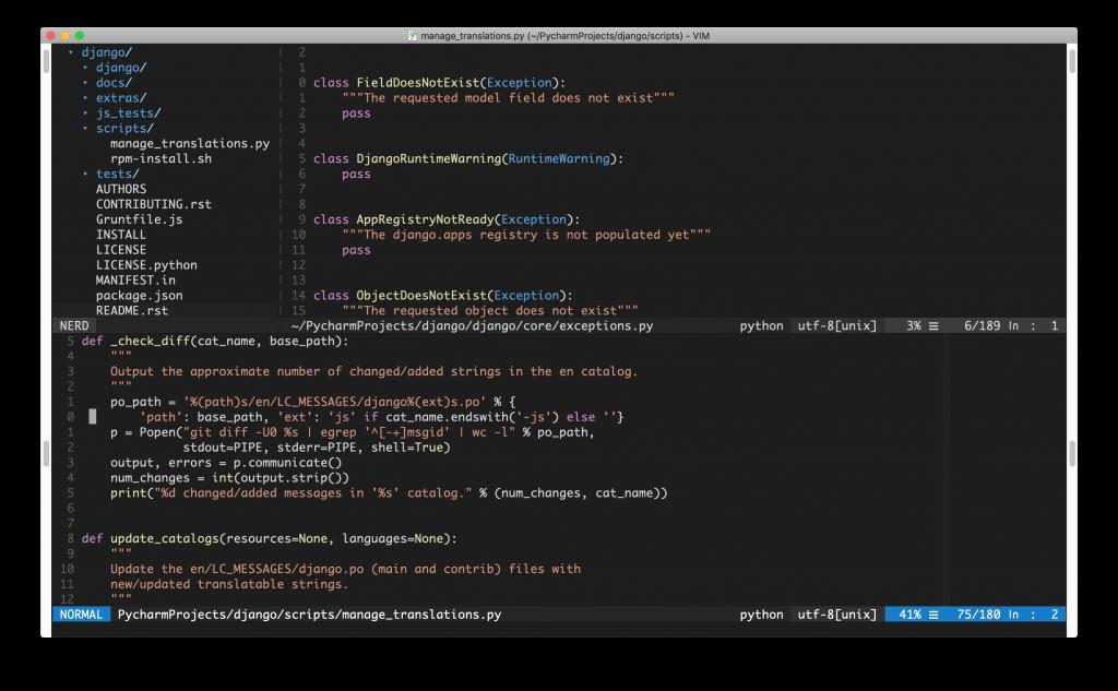 Usando Vim para programar en Python