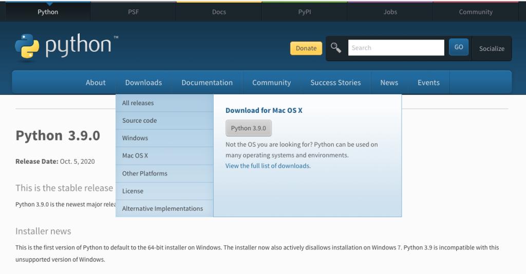 python org para instalar python