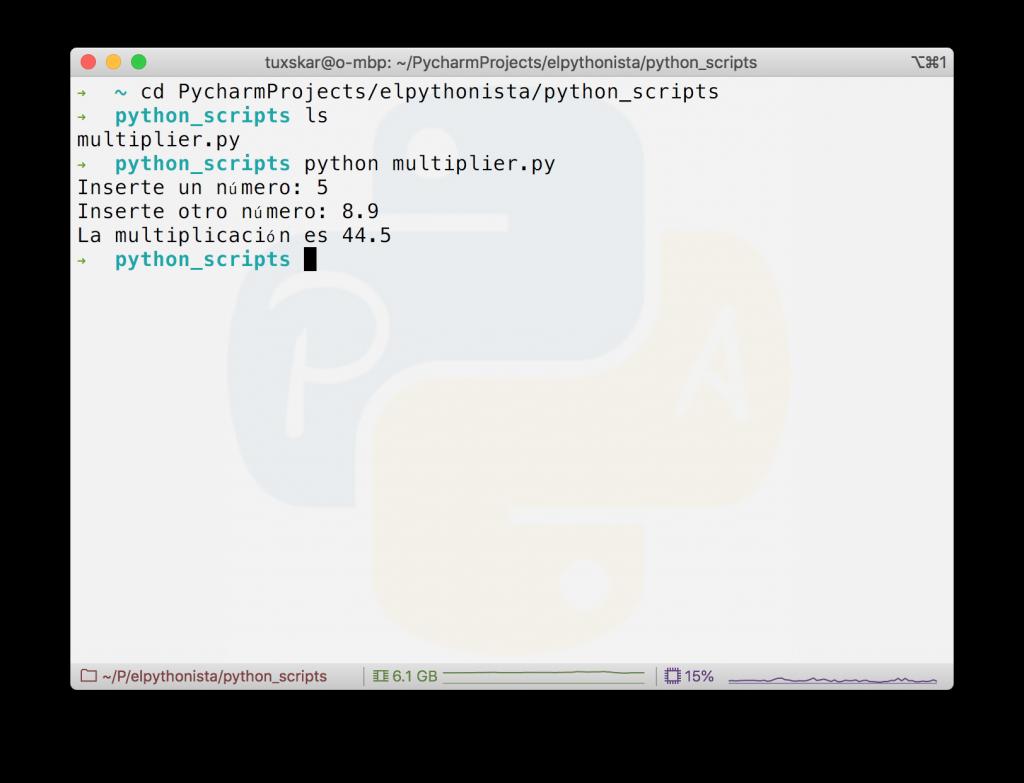 Script python macos X o linux