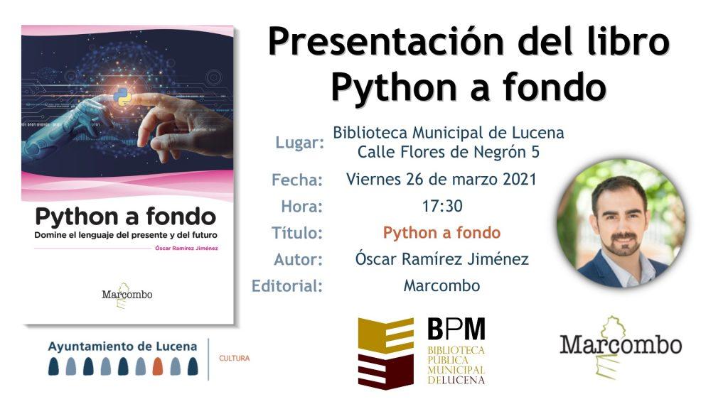Presentación python a fondo en Lucena