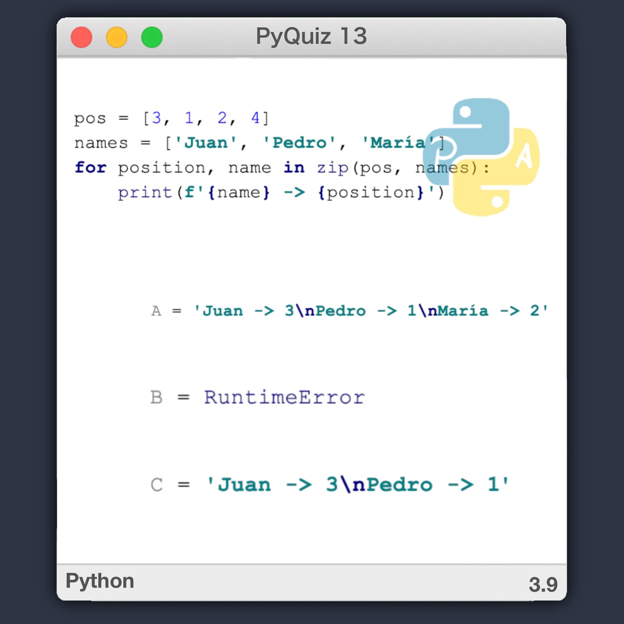 ZIP en python combinar listas